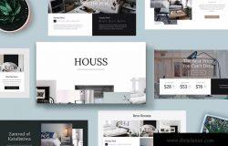 室内设计/家居品牌介绍Keynote幻灯片模板 HOUSS – Keynote Template