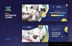 创意营销推广代理公司Facebook主页封面设计模板 Facebook Cover