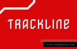 大胆工业设计风格无衬线排版英文字体 Trackline