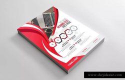企业介绍&公司宣传商业传单设计模板 Corporate Flyer