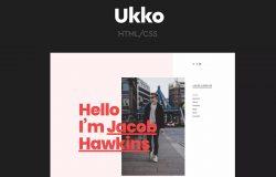 时尚潮流个性化个人HTML模板作品集设计