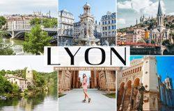里昂城市旅行摄影照片后期处理lightroom预设