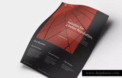极简主义商务合作企业宣传海报模板 Minimal Corporate flyer
