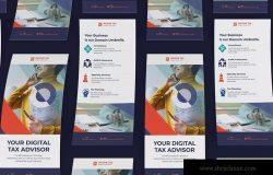 所得税业务商业广告宣传卡PSD模板