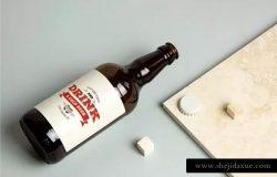 啤酒瓶外观贴纸设计展示样机 Beer Bottle Mock-up / Real Photo Scene