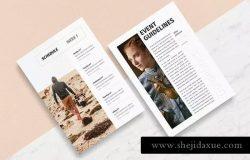 活动邀请信函创意设计模板 Clara – A4/A5/Letter