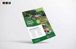 园林景观服务海报模板