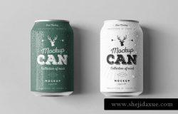 啤酒易拉罐包装设计样机