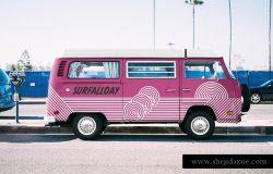 大众小汽车车身广告贴图样机展示模版 Volkswagen Mockup