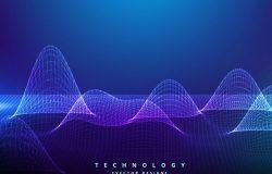 14款高科技现代感的线条背景纹理Ai源文件下载[Ai]