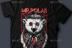 高品质的卡通北极熊T恤图案及展示样机下载