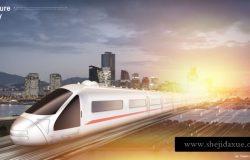 速度高铁光速相关的创意概念海报素材PSD下载