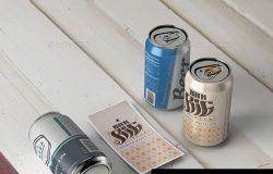 啤酒330毫升易拉罐展示样机下载