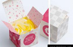 纸盒礼品盒贴图展示模版 Paper Box Mockups Set