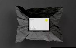 企业名片设计效果图预览样机模板 PSD Business Card Mockup