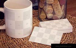 企业名片&马克杯品牌VI设计样机 Business Cards, Mug Mockup