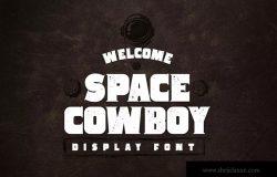 复古风格粗体英文衬线字体 Space Cowboy Typeface