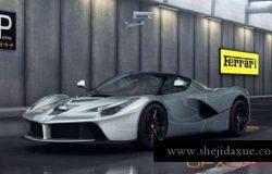 室内汽车场景灯光渲染C4D教程 Cinema 4D – Environment Car Lighting Tutorial