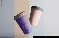 7个咖啡纸杯定制外观设计效果图样机模板 7 Coffee Cup Mockups