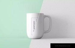 咖啡陶瓷杯外观设计PSD样机模板 Minimal Coffee Mug Mockup PSD