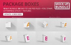 59个高清分辨率包装盒设计模版 Package Box Mock-Up Bundle