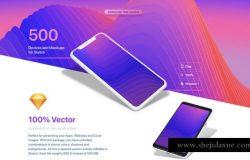 超级漂亮的苹果安装UI设计展示模型设计素材