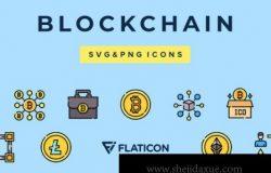 MBE断线风格区块链矢量图标合集包 Blockchain Vector Icons