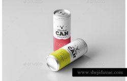 250ml容量的饮料易拉罐展示样机