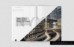 72页优雅极简的杂志模板下载 Nyx Proposal Template [psd]