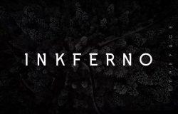 版式设计适用的半衬线字体 Inkferno Semi-Serif Typeface