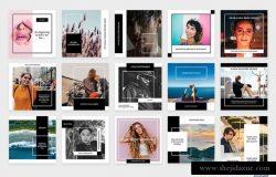 时尚的社交广告图片模板下载[PSD]