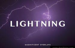 75+不同形状的闪电素材合集包 Magnificent Overlays: Lightning