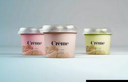 迷你冰淇淋杯外观设计图样机PSD模板