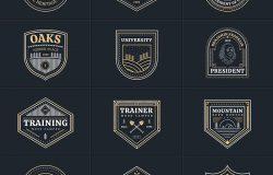 多用途矢量Logo商标效果图样机模板