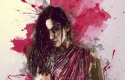 抽象油漆绘画焦点艺术Photoshop动作