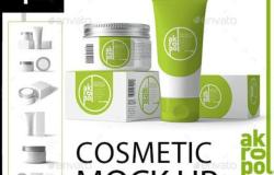美容化妆品套装样机模板Cosmetic Mock Up