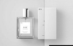 香水瓶&香水包装盒外观设计样机模板 Perfume Package Mockup