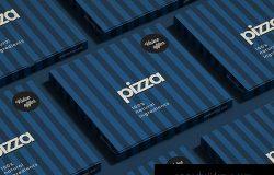 披萨盒包装外观设计效果图样机