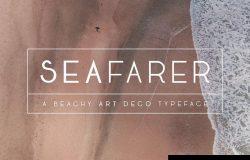 灵感于1920s装饰艺术风格英文字体 Seafarer Art Deco Font