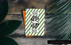 空白单页样机贴图展示模版 Blank Card PSD Mockup