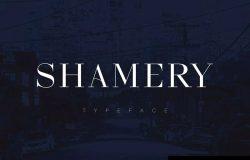 豪华典雅全大写英文衬线字体 Shamery Font
