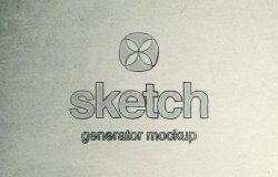 素描绘画生成器PS样机 Sketch Generator Photoshop Mockup