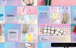 化妆项目的谷歌PPT模板下载 Stella Google Slide Presentation [pptx]
