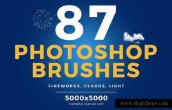 87个Photoshop画笔 烟火 云 光87_Photoshop_Brushes