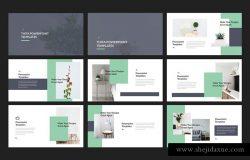 创意极简图文内容的演示模板下载 Thita Lookbook Powerpoint Templates [pptx]