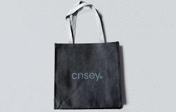 手提包/简约购物手袋设计图样机模板 Tote Bag Mockup