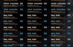 灵魂食品餐厅菜单传单模板