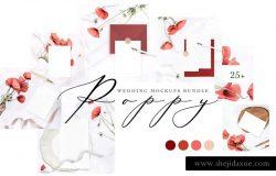 时尚漂亮的婚礼展示样机下载 POPPY WEDDING MOCKUPS BUNDLE [psd,jpg]