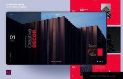 建筑主题网站UI设计XD模板 ChiArc-Architecture for Adobe XD Template