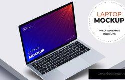 苹果Macbook Pro超极本电脑屏幕预览样机模板 Laptop Mockups
